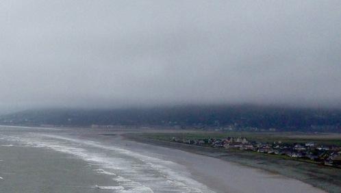 Morning fog rising above Barmouth,
