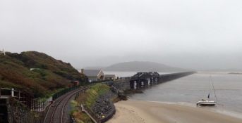 Pedestrian footbridge & railway viaduct, Barmouth.