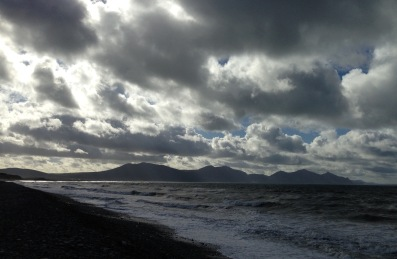 From Dinas Dinlle, looking towards the mountains of Snowdonia.
