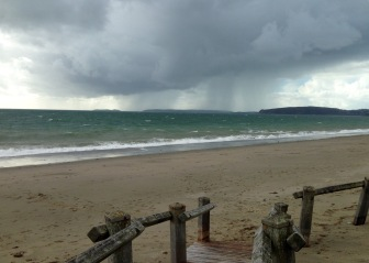 The beach at Pwllheli.