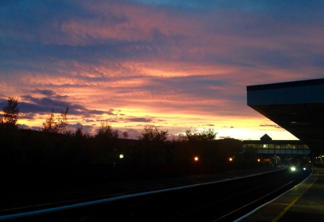 Sunset at Llandudno Junction.