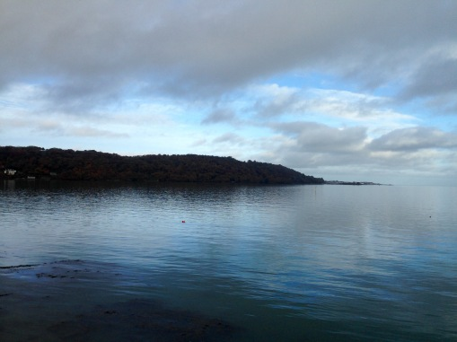 Across the Strait, from Bangor towards Beaumaris in Anglesey.