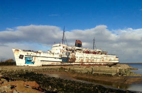"The ""Duke of Lancaster"" at Llannerch-y-Mor, River Dee."