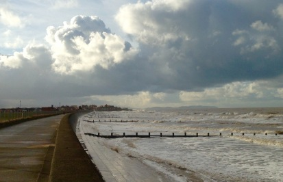 Walking on from Rhyl, to the east.