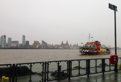 The last lap; across the Mersey by ferry.