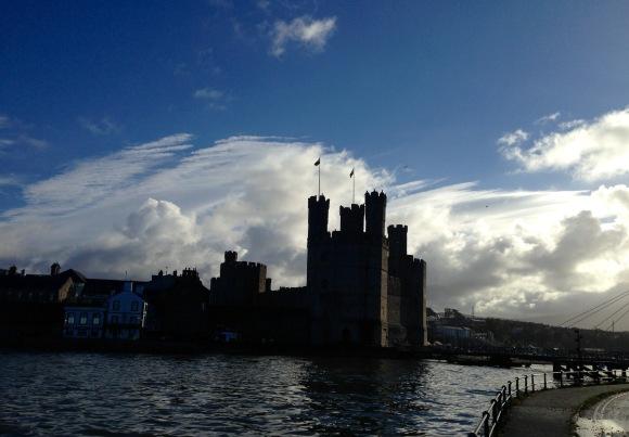 Caernarfon Castle.