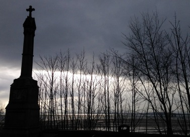 Monument at Kinghorn to Alexander III, last Celtic King of Scotland, d. 1286.