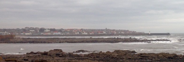 Misty afternoon, approaching Anstruther.