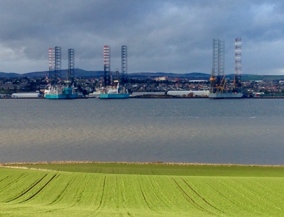 Across the River Tay towards Dundee.