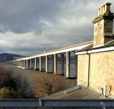 The Tay Road Bridge, 2.25 miles in length.