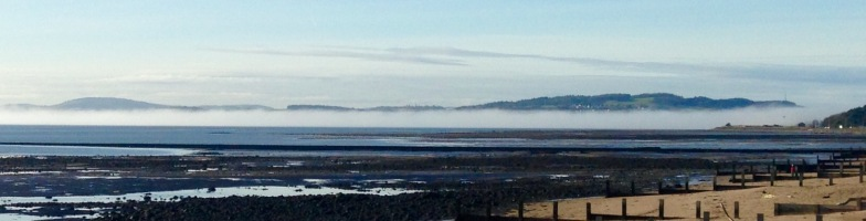 A line of fog across the River Tay.