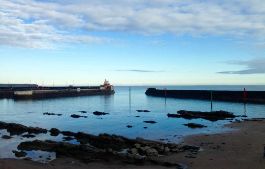 The harbour at Arbroath.