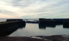 The harbour at Johnshaven.