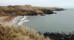 Approaching Cruden Bay.