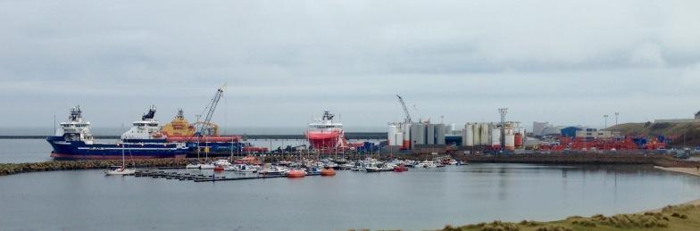 The docks at Peterhead.