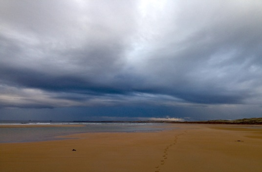 Endless beach walk towards Fraserburgh.