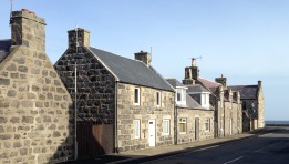 A very typical row of houses.
