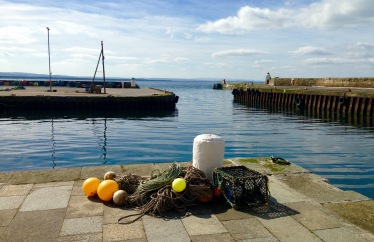 The harbour at Burghead.