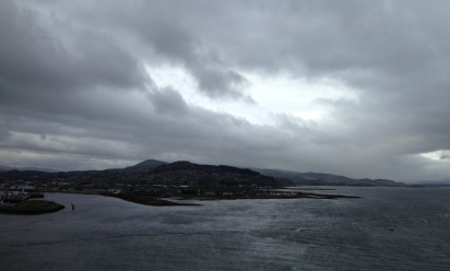 Looking back to Inverness from the Kessock Bridge.