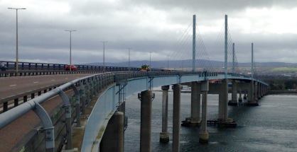 Kessock Bridge, the road to the Far North.