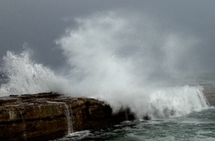 Rough seas at Embo.