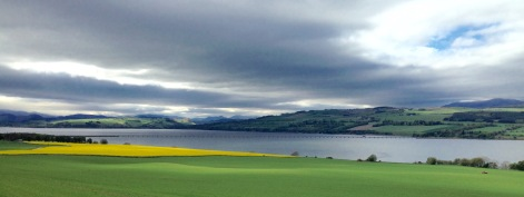 Cromarty Firth - low lying bridge just visible.