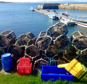 Still life with lobster pots.