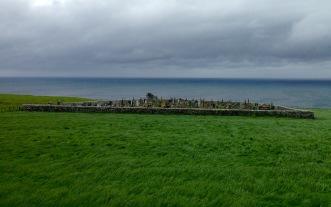 Clifftop graveyard near Dunbeath.
