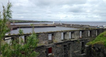Ruins of the old Herring Market beside the harbour at Wick.