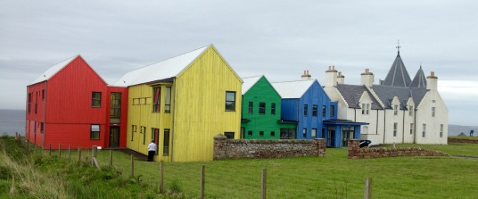 Colourful accommodation, John O'Groats.
