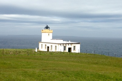 Duncansby Head Lighthouse, on the north easterly corner of Great Britain.
