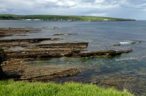 Looking ahead to Scrabster, from Thurso.