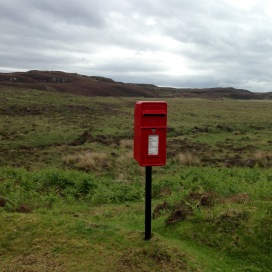One of a number of postboxes in the middle of nowhere. Six collections a week!