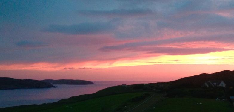 Sunset 10.45pm. Bettyhill.