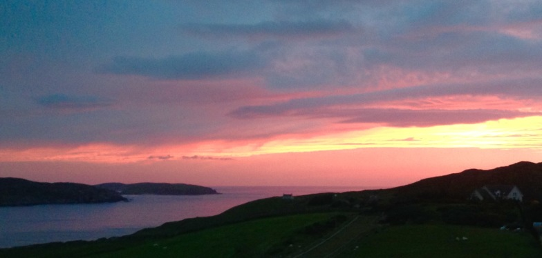 Sunset 10.45pm. Bettyhill.