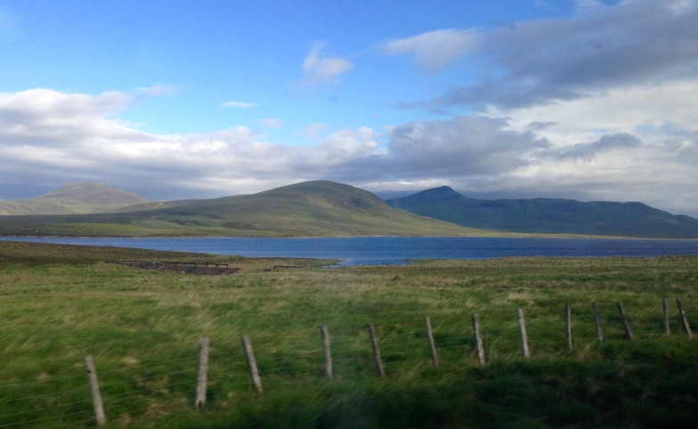 The Highlands. Taken from the southbound train from Thurso.