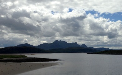 Looking back to the Kyle of Tongue.