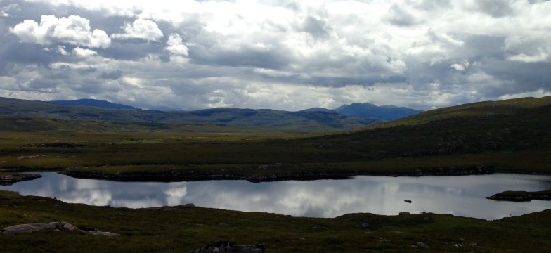 Clouds reflected in Lochanan Dubha.