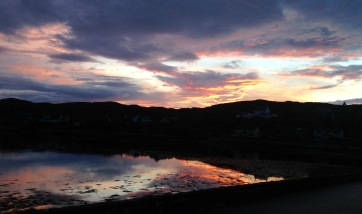 Sunset at Lochinver.
