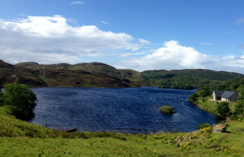 The loch at Drumbeg.