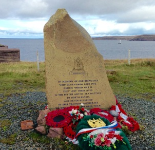 Arctic Convoys: memorial at the mouth of Loch Ewe.