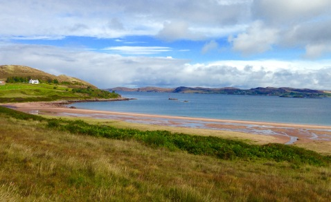 Near Cove, at the mouth of Loch Ewe, where the Arctic Convoys assembled prior to sailing to Russia.
