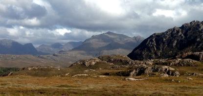 A frowning landscape near Loch Maree.