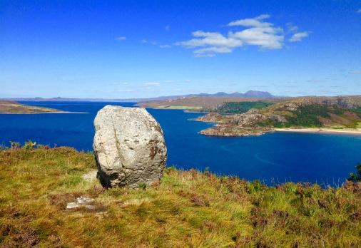 Gruinard Bay and Gruinard Island.