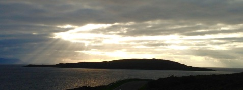 Loch Gairloch, late afternoon, Isle of Skye in left hand background.