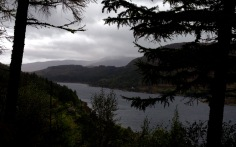 Loch Carron in the rain.