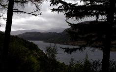 Loch Carron in the rain.