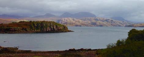 A view of Loch Torridon which mesmerised me.
