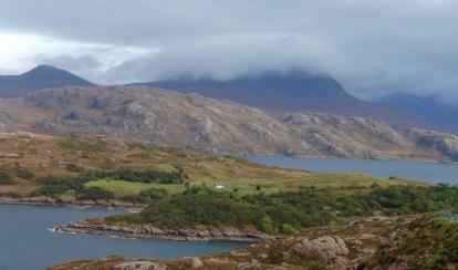 Uncompromising landscape at Loch Torridon.