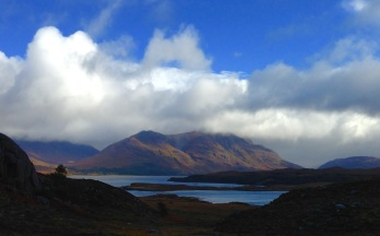Last view of Loch Torridon, looking back near Shieldaig.